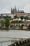 Prague Castle with Cathedral of Saint Vit behind it Stock Photography