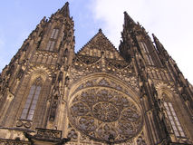 Prague - castle - cathedrals and monuments1. Perspective view of Prague Cathedral Stock Photo
