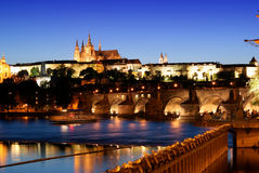 Prague castle-Charles bridge Royalty Free Stock Photography
