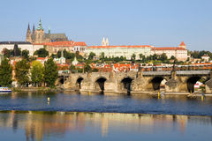 Prague Castle and the Charles Bridge Royalty Free Stock Photos