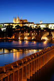 Prague castle-Charles bridge Royalty Free Stock Images