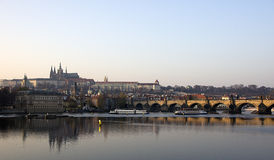 Prague castle. And Charles bridge Royalty Free Stock Photos