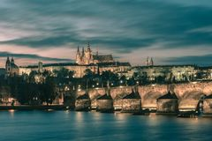 Prague Castle and Charles Bridge, Czech Republic Royalty Free Stock Image