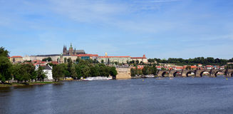 Prague Castle, Charles Bridge Panorama Royalty Free Stock Image