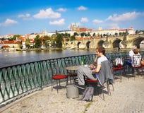 Prague Castle, Charles Bridge, People Royalty Free Stock Image
