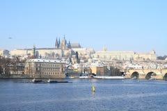 Prague Castle and Charles Bridge Royalty Free Stock Photo