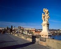 Prague Castle from Charles's Bridge Stock Photos