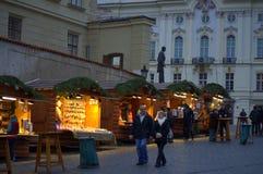 Prague castle at Christmastime Stock Images