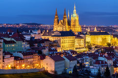 Prague Castle complex with gothic St Vitus Cathedral, Hradcany, Royalty Free Stock Photo