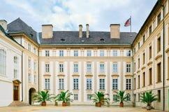 Prague Castle Courtyard Stock Image