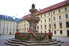 Prague castle courtyard Stock Photos