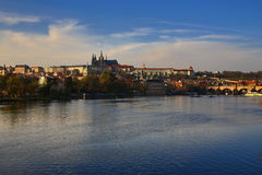 Prague Castle (Czech: Pražský hrad) is the official residence and office of the President of the Czech Republic Stock Photos