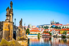 Prague Castle, Czech Republic. Prague, Bohemia, Czech Republic. Hradcany is the Praha Castle with churches, chapels, halls and towers from every period of its stock image
