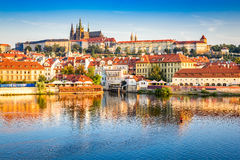 Prague Castle, Czech Republic. Prague, Bohemia, Czech Republic. Hradcany is the Praha Castle with churches, chapels, halls and towers from every period of its stock photo