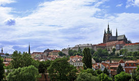 The Prague Castle in Czech republic. Photo of Prague castle in the capital of Czech Republic Royalty Free Stock Photos