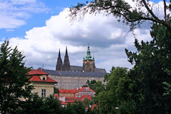 The Prague Castle in Czech republic. Photo of Prague castle in the capital of Czech Republic Royalty Free Stock Photo
