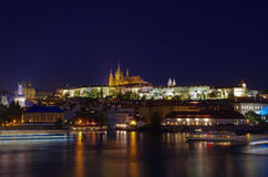Prague Castle, Czech Republic. View of Prague Castle at night Royalty Free Stock Photo