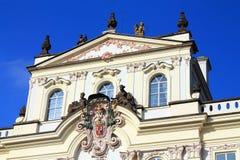 Prague Castle. Detailed embellishment on a building in the Prague Castle Stock Photos