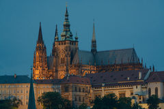Prague castle district. Featuring the St. Vitus church royalty free stock photos