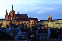 Prague Castle at Dusk. In Prague, Czech Republic Royalty Free Stock Image