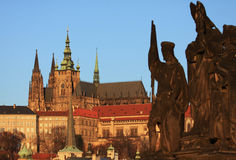 Prague castle. In the early morning light Royalty Free Stock Images