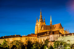 Prague castle during Stock Photography