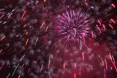 Prague castle fireworks royalty free stock images