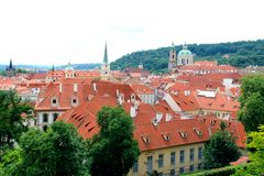 Prague castle garden Stock Images