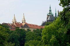 Prague castle gardens Stock Image