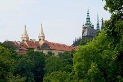 Prague castle gardens Stock Image