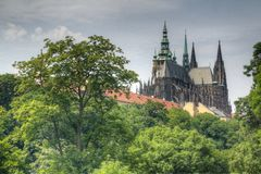 Prague castle gardens Royalty Free Stock Photography