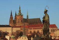 Prague castle. In the golden morning light Royalty Free Stock Image
