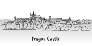 Prague Castle Greeting Card Design Stock Images