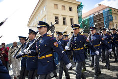 Prague castle guards Royalty Free Stock Photos