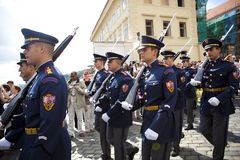Prague castle guards Stock Photos
