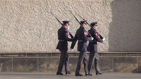 Prague Castle Guards Marching stock footage