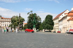 Prague Castle_historic car Stock Image