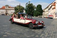 Prague Castle_historic car Royalty Free Stock Photos
