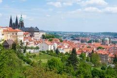 Prague Castle. And historical center of Prague royalty free stock photos