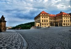 Prague castle - Hradcanske namesti -  HDR. Hradcanske namesti - Prague castle Royalty Free Stock Photography