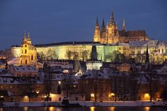Prague castle Hradcany Royalty Free Stock Images