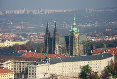 Prague Castle - Image of St. Vitus Cathedral Stock Image