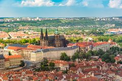 Free Prague Castle In The Middle Of The City With Beautiful Sky, Prague Stock Images - 101209584