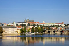 Prague Castle in Late Afternoon Stock Photos