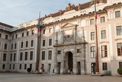 Prague castle main gate entrance royalty free stock photo