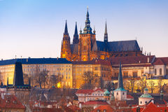 Prague Castle and Mala Strana, Czech Republic royalty free stock photos