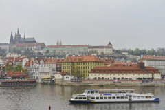 Prague Castle and Mala Strana, Prague, Czechoslovakia Royalty Free Stock Photos
