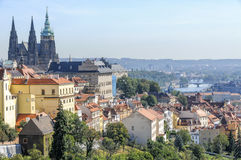 Prague Castle and Mala Strana, Prague, Czech Republic Stock Images