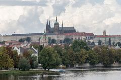 Prague castle is the most important National Cultural Monument of the Czech Republic. The complex that would became Prague castle was founded in the 9th century royalty free stock photography