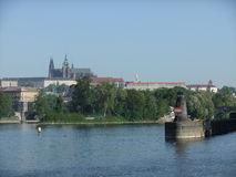 Prague castle. Nice view on the famous Prague castle over the Vltava river Royalty Free Stock Photography